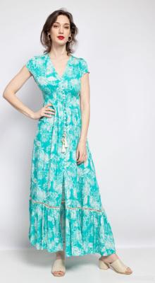 last-queen-robe-longue-a-imprime-fleuri-boutonnee-devant-avec-fente-aztfgh-cyan-1 (2)